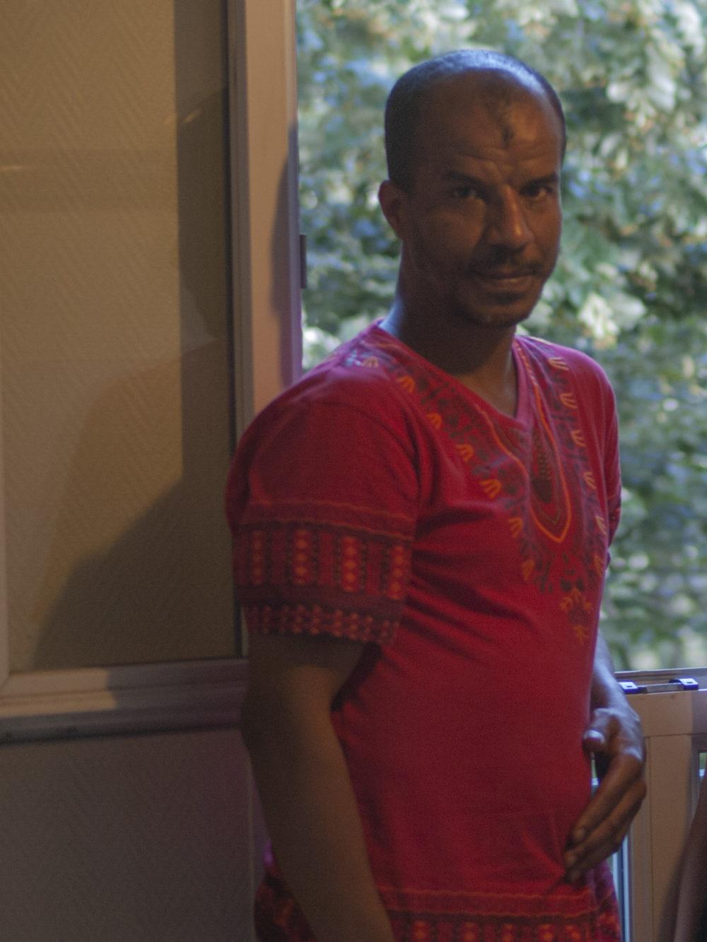 Rachid, locataire membre du Groupe Locale de Solidarité 20ème Gambetta.